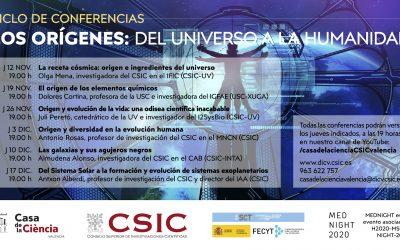 Ciclo de conferencias «Los orígenes: del universo a la humanidad»