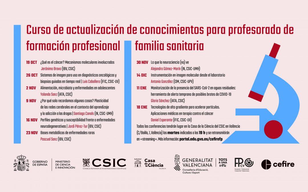 Curso de actualización de conocimientos para profesorado de formación profesional (familia sanitaria)